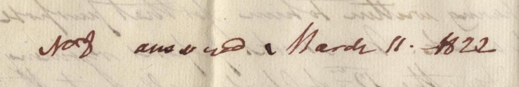 William's father noted the date of his reply