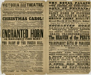 Playbill advertising 'A Christmas Carol' at the Royal Victoria Theatre, December 1862
