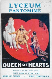 Book of Words for the Lyceum pantomime 'Queen of Hearts', 1927-1928