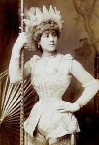 Photograph of Nellie Farren, from the Milbourne scrapbook