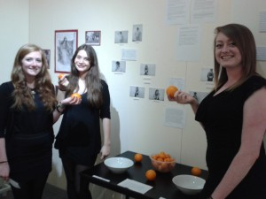 Students with their orange poll