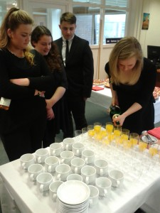 The students arranged the launch, refreshments and all!