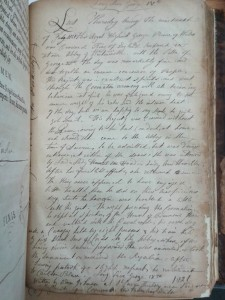 Manuscript notes about the coronation of George IV