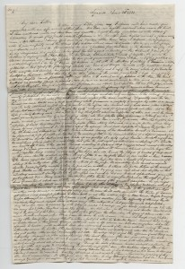 An image of William's letter
