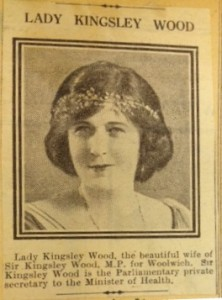 Agnes Wood, in 1923. Agnes was an independent woman prior to her marriage, and wrote articles to support her husband's cause to new, female voters in 1918.