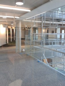 Photograph of the first floor of the library extension.