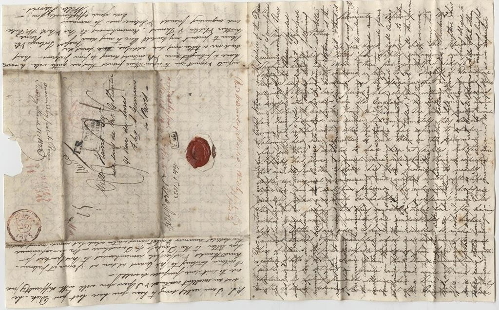 The front of William's letter from Selinunte