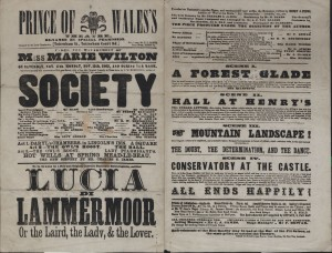 Playbill for Society at the Prince of Wales