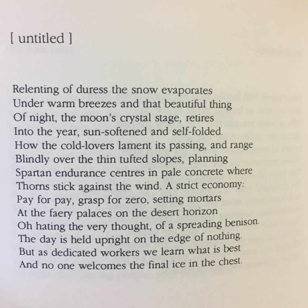 MOR.I526 POETRY (057119600), Peter Riley: 'Snow has settled (...) bury me here', 1997, Shearsman Books