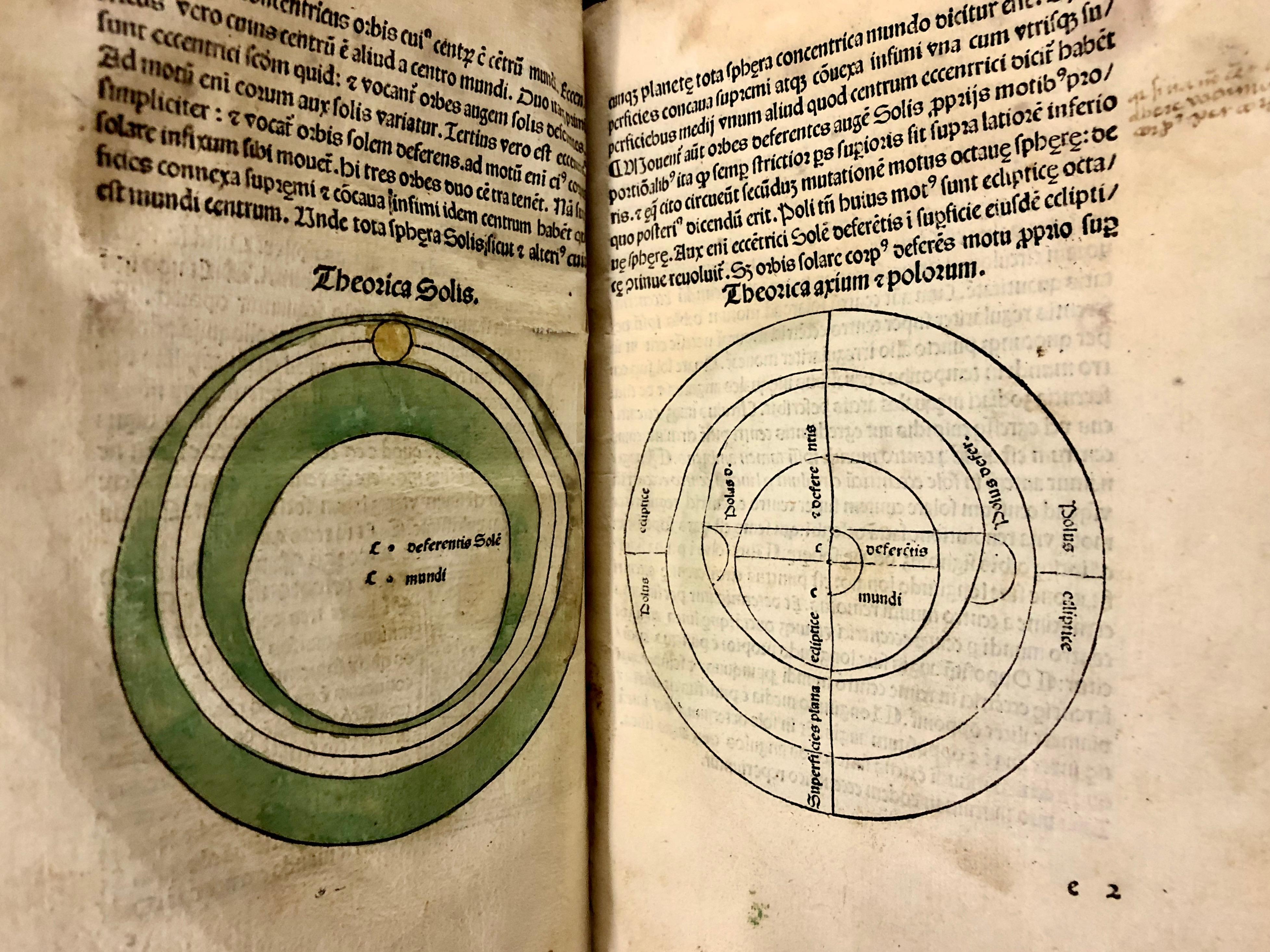 More hand-painted lunar charts in 'Nouicijs adolescetib': ad astronomica remp: capessenda aditu impenetratib' by Johannes de Sacro Bosco, 1482, Venice (Maddison Collection, 1D1)