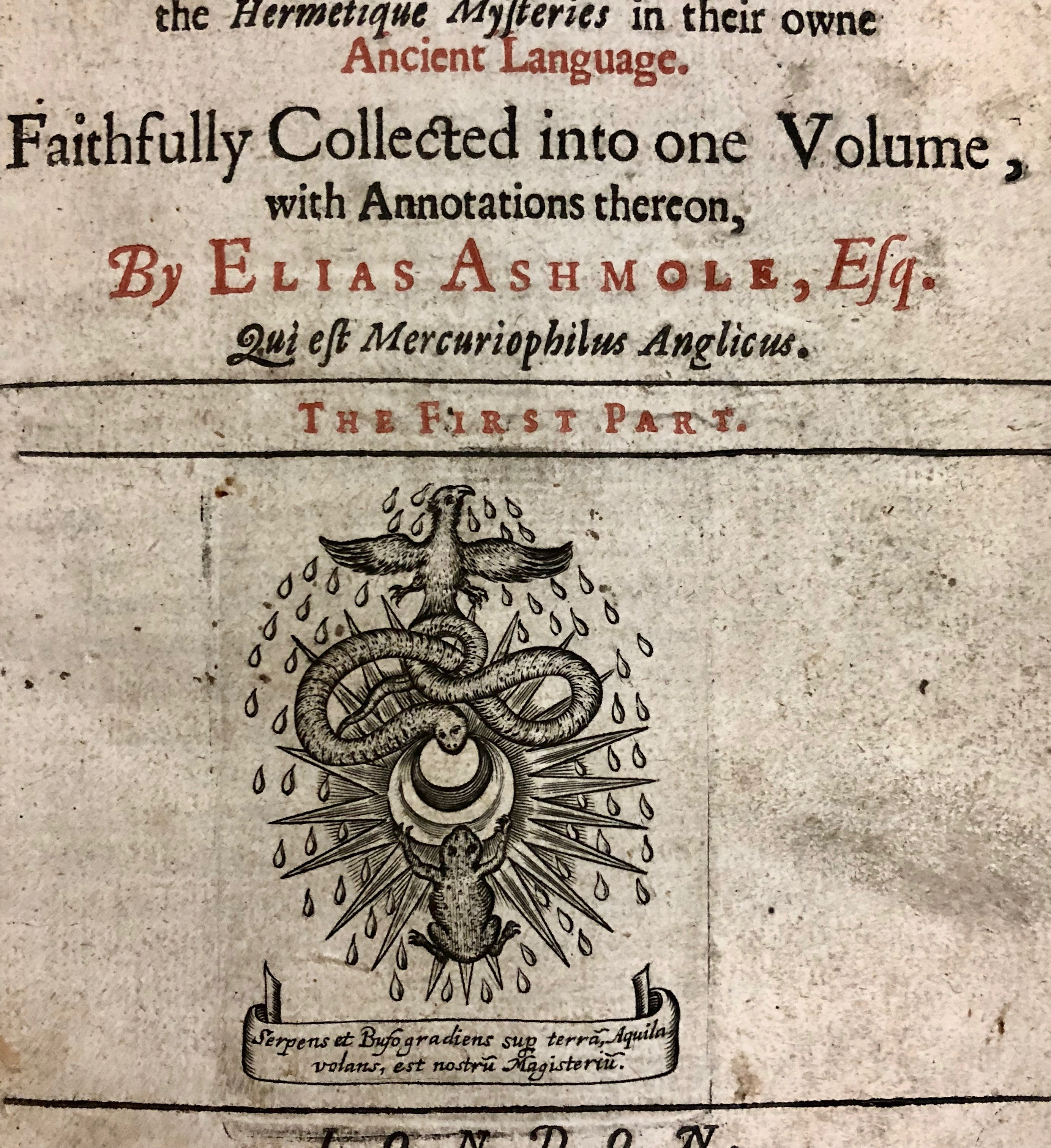 Printer's device from 'Theatrum chemicum Britannicum' by Elias Ashmole, 1652, London. (Maddison Collection 1A11, F10444300)