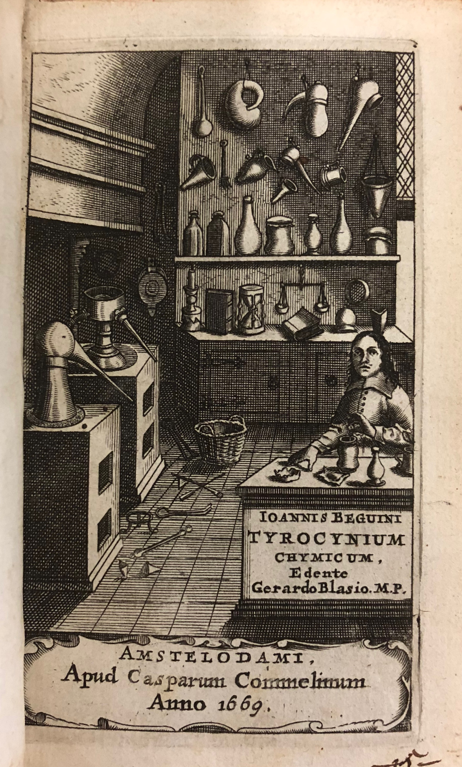 Illustration from 'Tyrocinium chymicum' by Jean Beguin, 1669, Amsterdam. (Maddison Collection 1A21, F10448000)