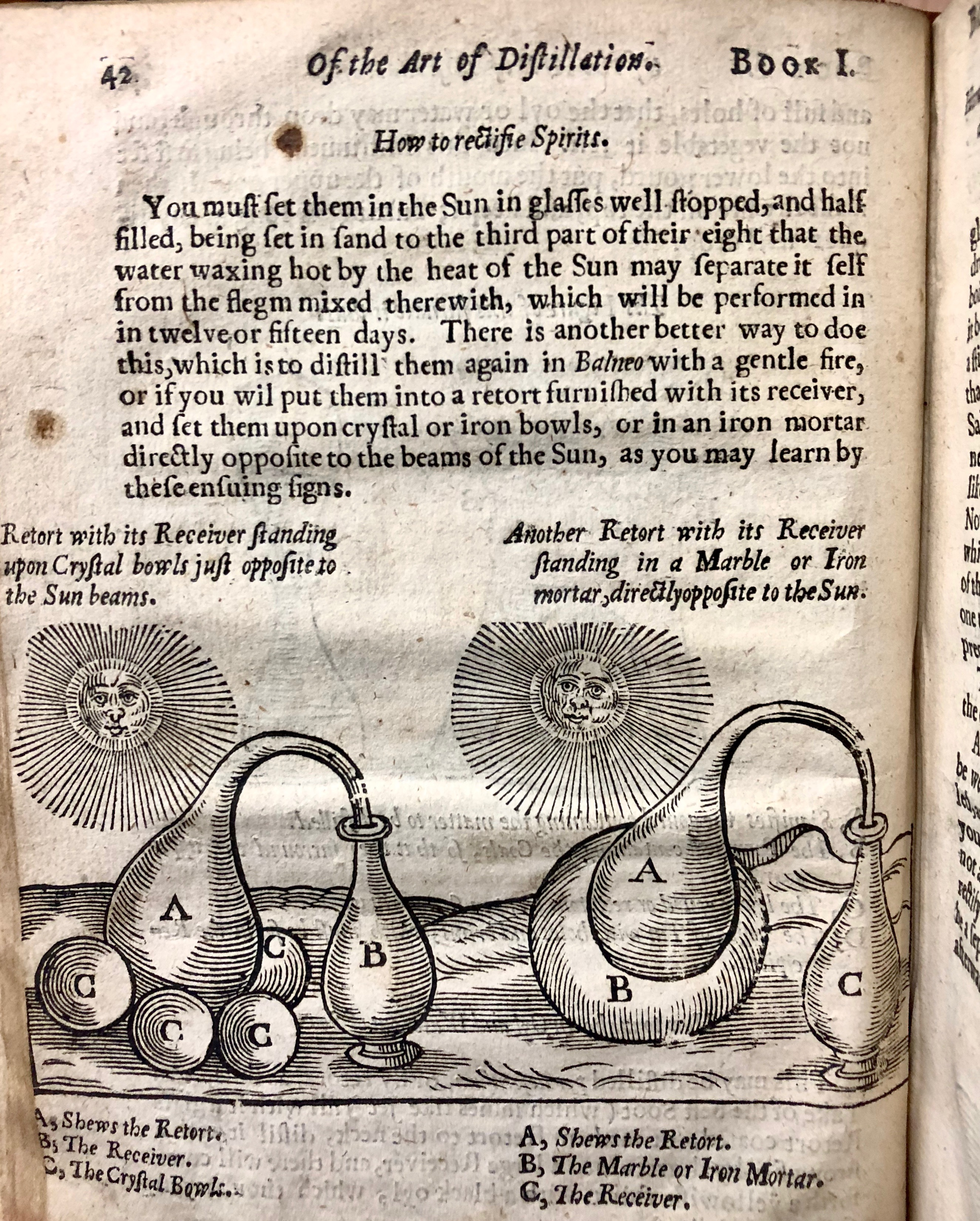 Diagram from ' The art of distillation : or, a treatise of the choicest spagiricall preparations ... furnaces & vessels ... experiments and curiosities ...anatomy of gold and silver' by John French, 1653, London. (Maddison Collection 2A25, F10505800)