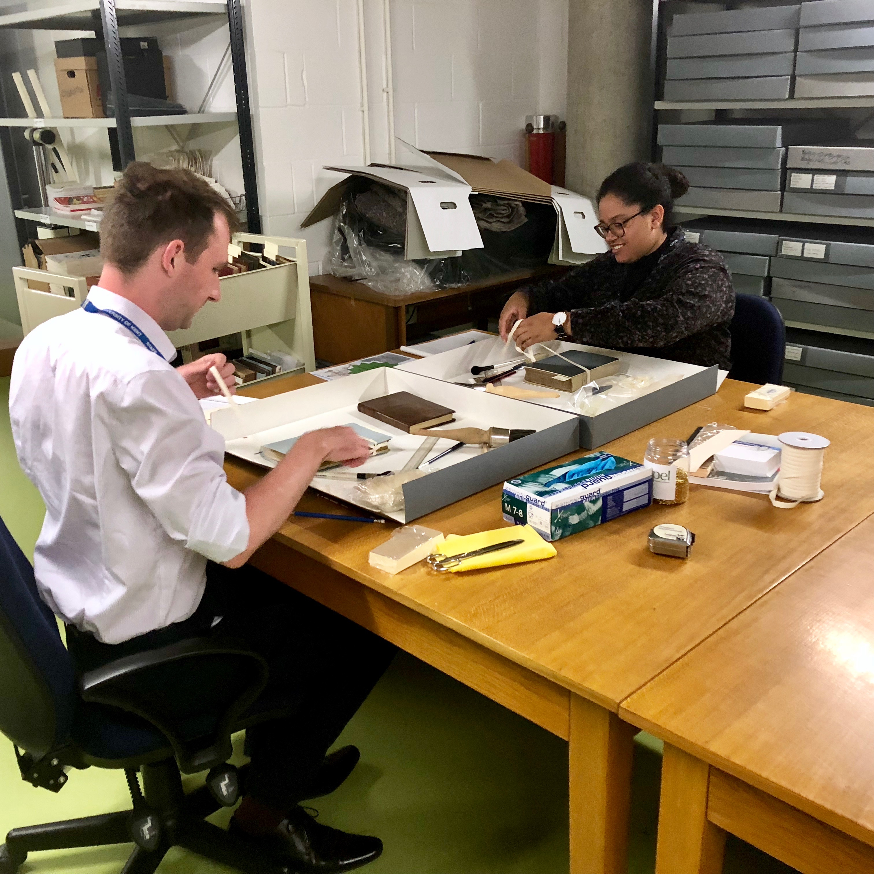 Philip and Janee, our summer 2018 interns, hard at work looking after our Maddison Collection.