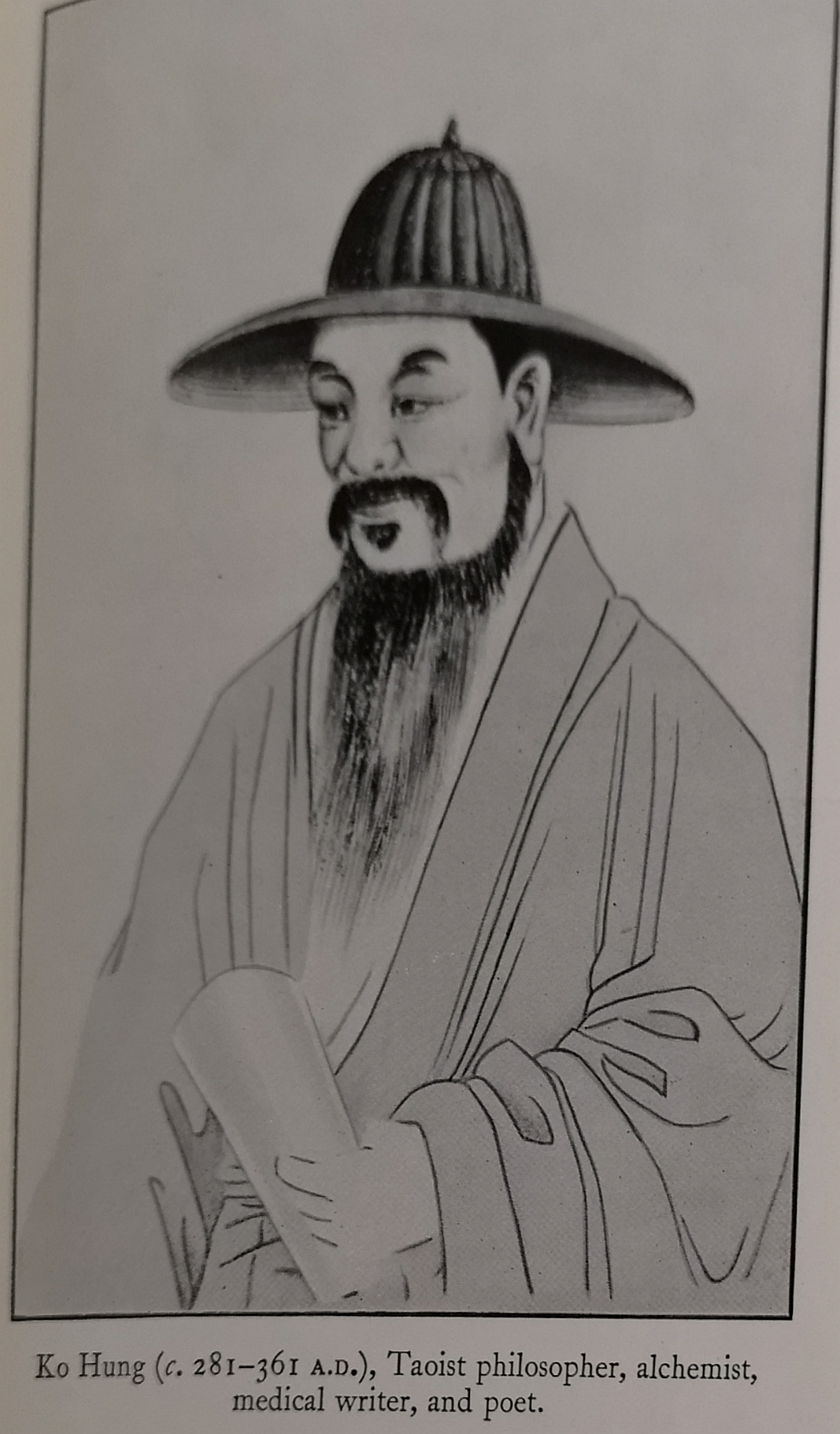 A taoist philosopher, alchemist, medical writer and poet, Ko Hung was the originator of first aid in traditional Chinese medicine.