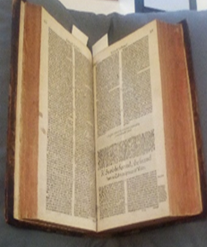 this image shows the inside of the book—specifically, the start of the section about Richard II. Though the book is centuries old, the print is surprisingly legible.