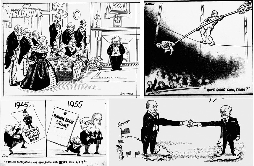 Selection of political cartoons found in the Beaverbrook Collection