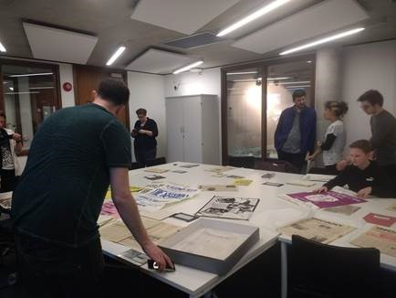 Youth groups exploring the Gulbenkian archive