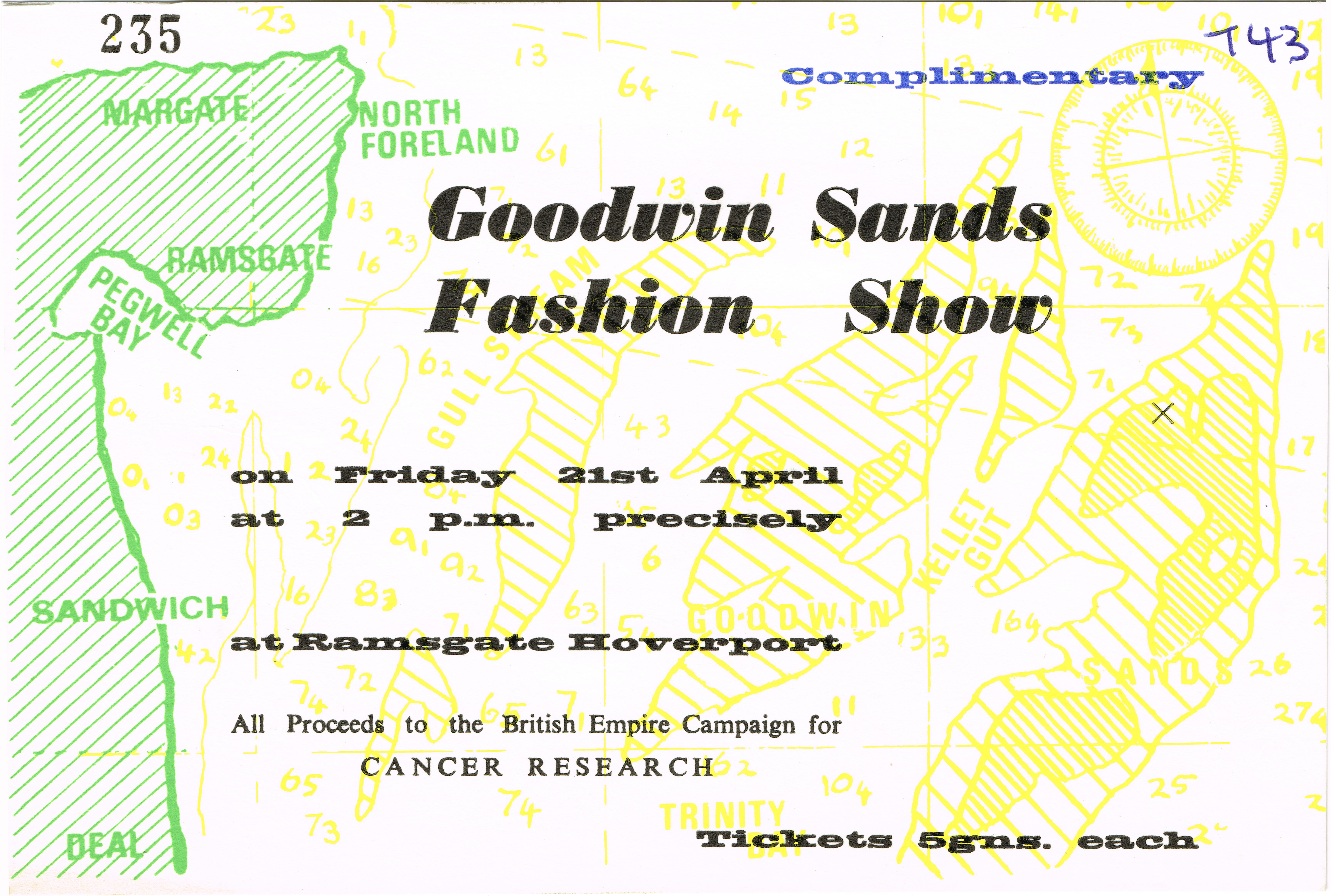 Advert for Goodwin Sands Fashion Show, printed by the Martell Press