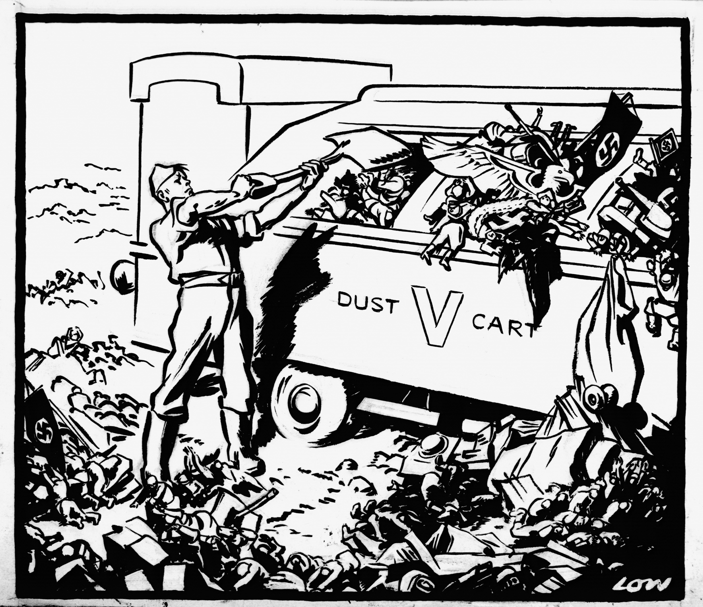 David Low, [no caption], Evening Standard, 7th May 1945 (DL2415)