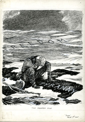 E.H. Shepard, 'The doomed isle', Punch, 7th March 1945 (ES0064)