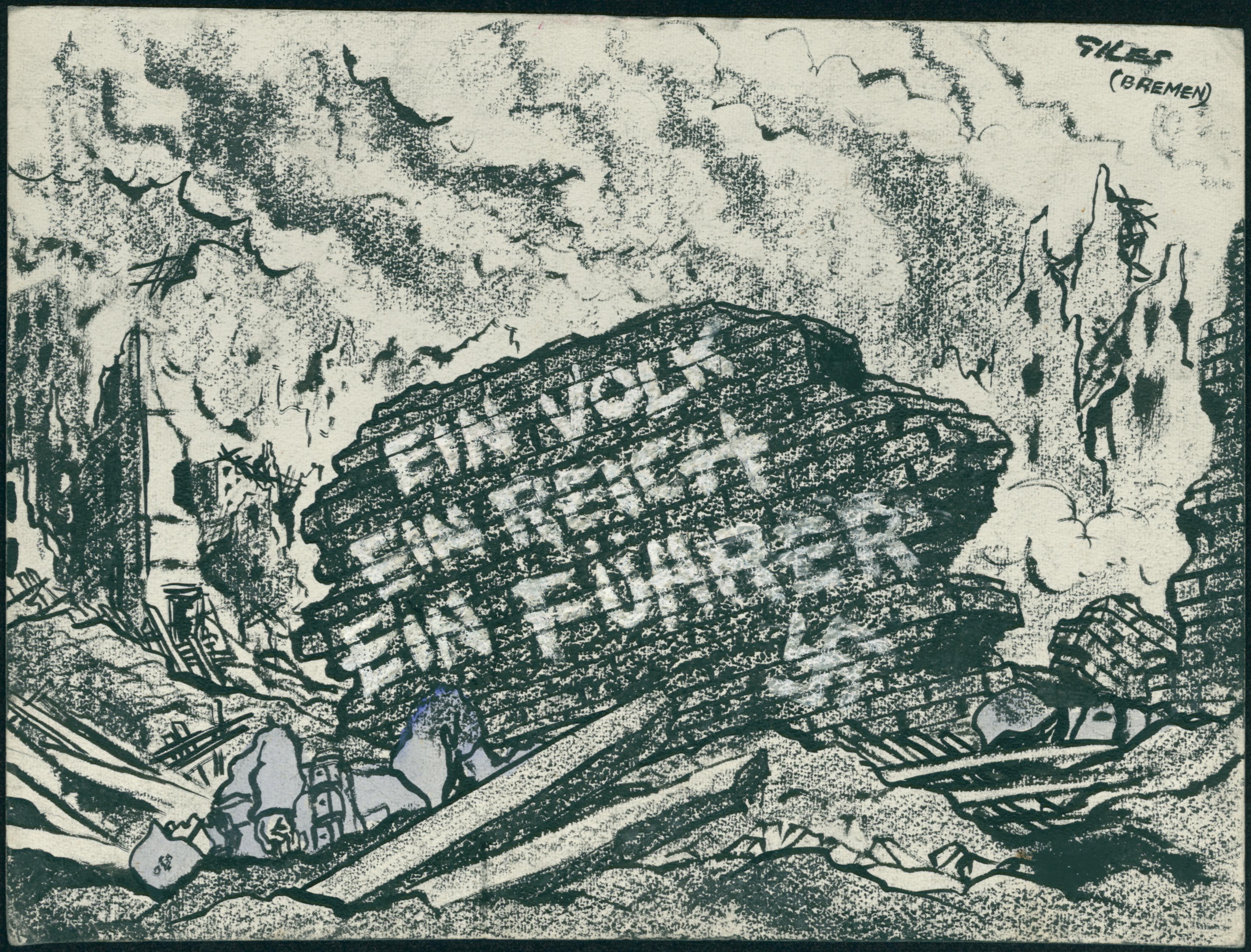 Carl Giles, 'German Landscape', Daily Express, 29th April 1945 (GA5440)