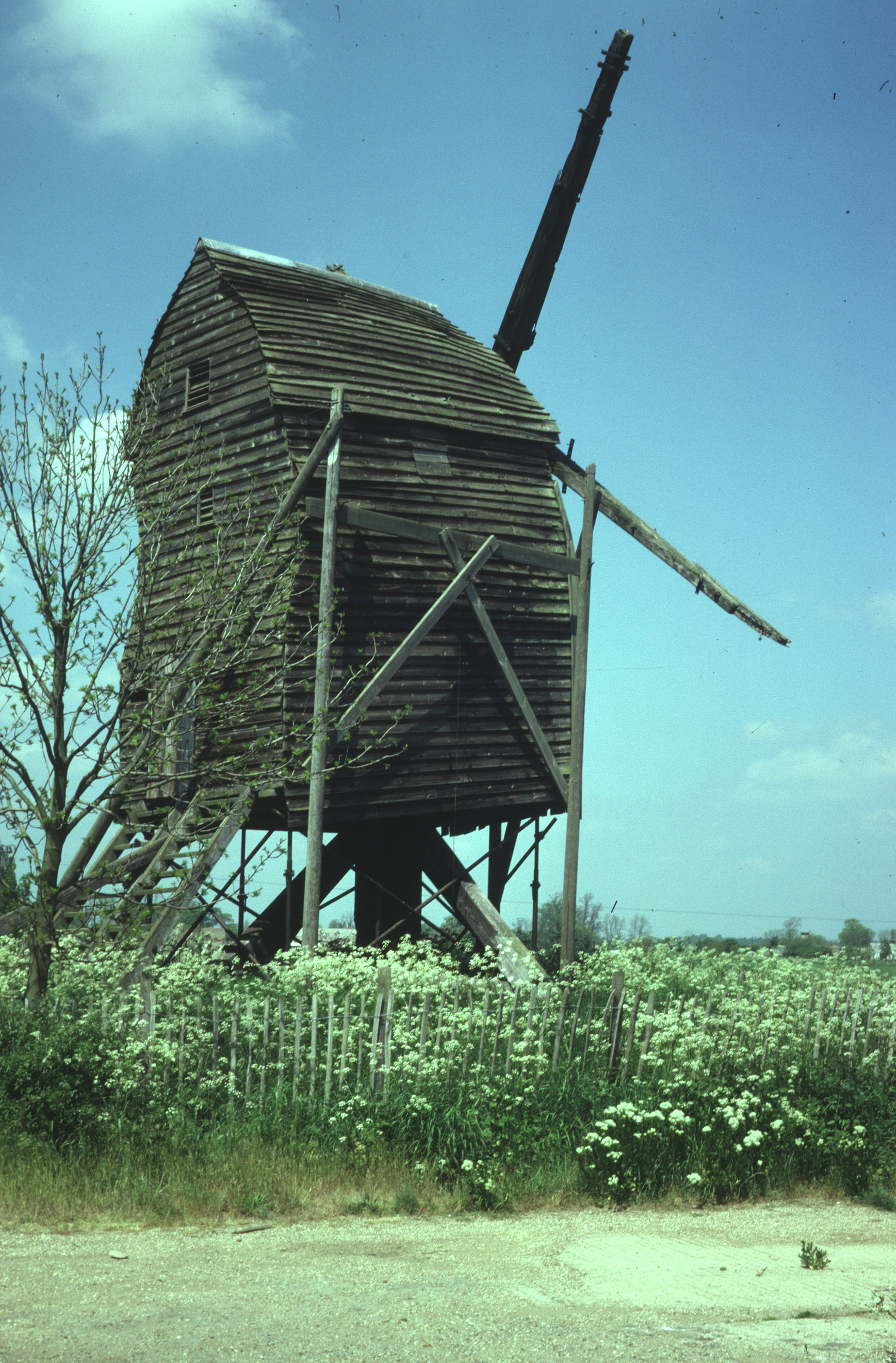 Great Gransden windmill shows off its best side (1979)