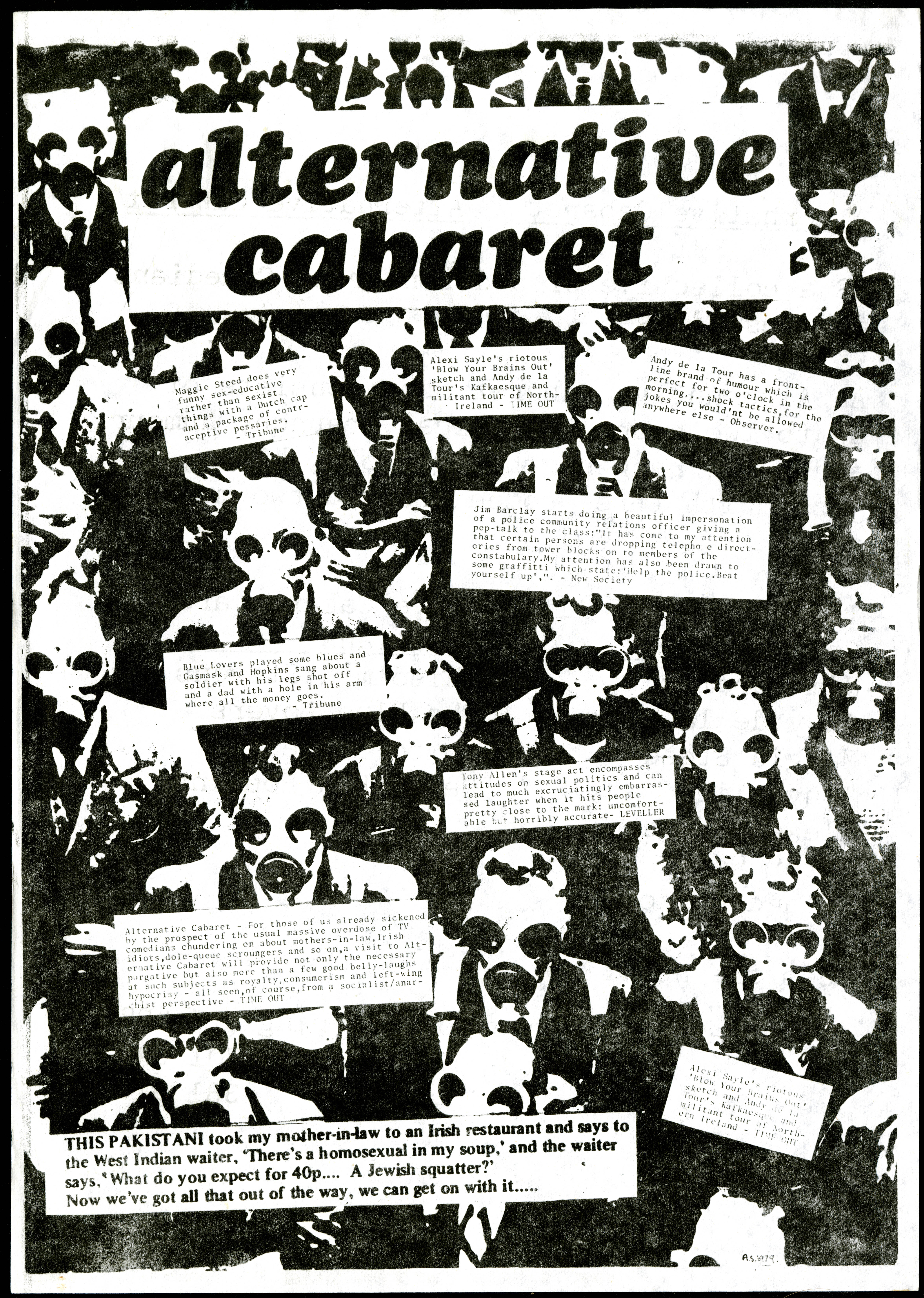 Flyer advertising the Alternative Cabaret collective