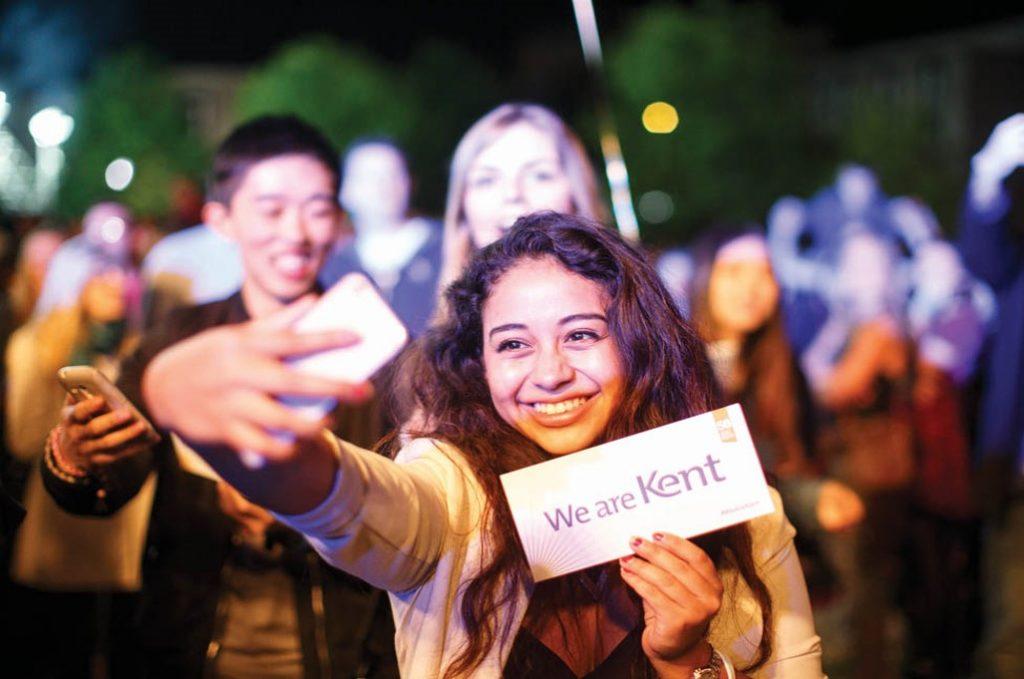 University of Kent Student taking a selfie