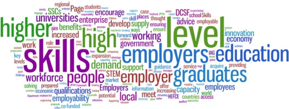 Word Cloud for employability
