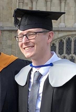 Callum Mantel graduating from the University of Kent