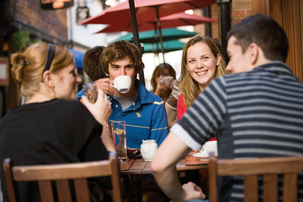 Students in coffee shop