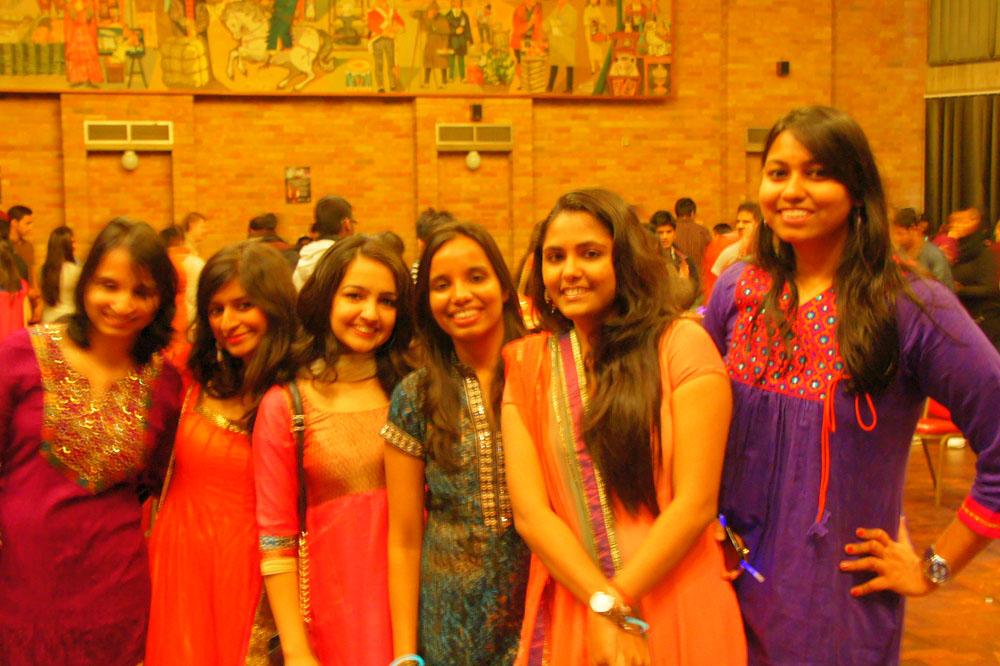 Photo of students at Diwali celebration