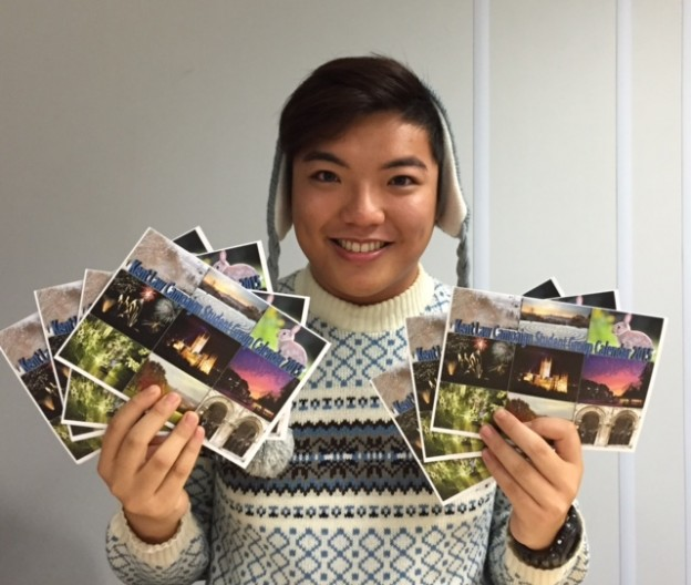 Billy Ng with the calendars