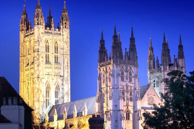 Canterbury Cathedral at night