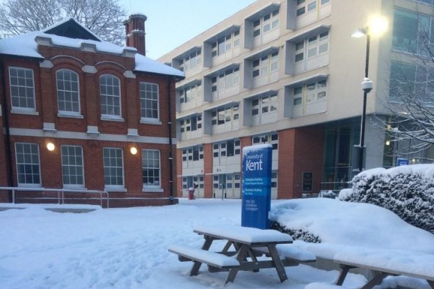 Snowy Medway campus by Mick Miles