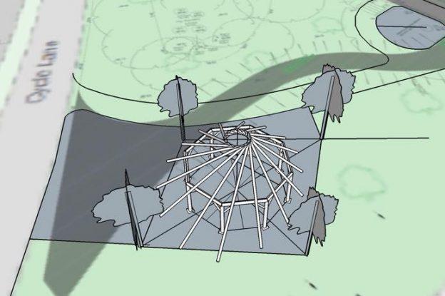 Design for the timber framed building