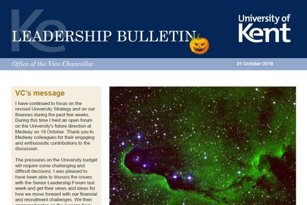 Leadership Bulletin 31 October 2018