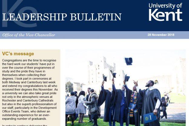 Leadership Bulletin 28 November 2018