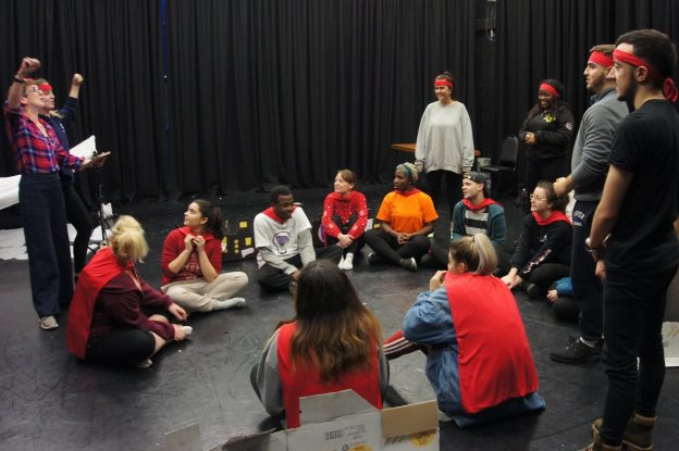 Applied Theatre students performance at local school