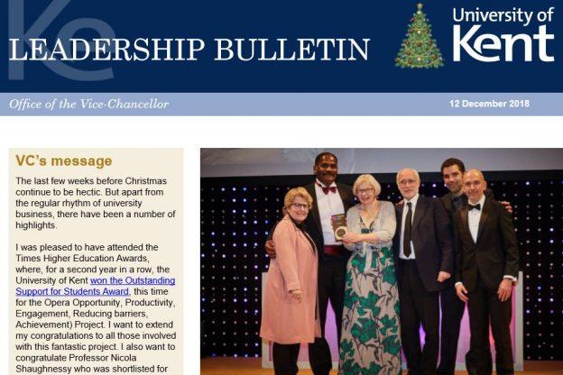 Leadership Bulletin 12 December 2018