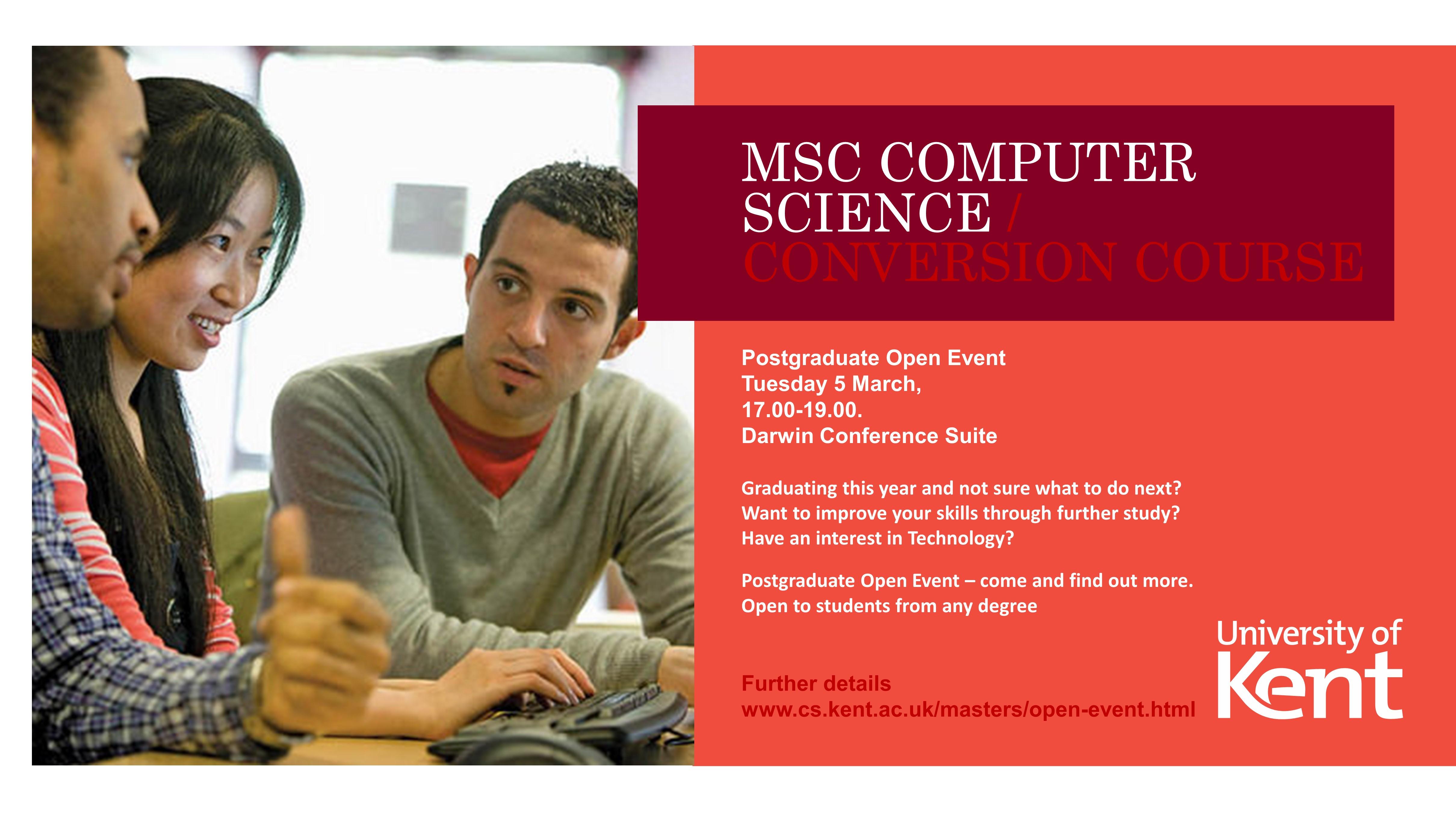 MSc Computer Science conversion course - University of Kent