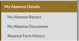 Absence details button
