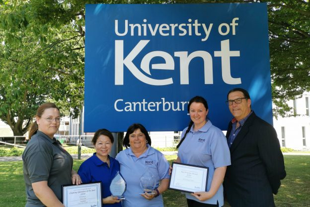 Kent Hospitality Housekeeping staff with BACHE awards