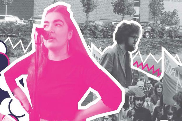 Cover image of the Radical Roots Youth Porject with a lady singing into a microphone
