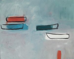 Boats in the Early Morning an Elizabeth Akehurt painting