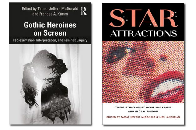 Two book covers of Gothic-heroines-on-screen and Star Attractions books by Dr. Tamar Jeffers McDonald