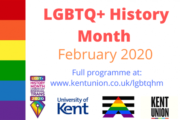 LGBTQ+ Hisotyr Month with rainbow colours