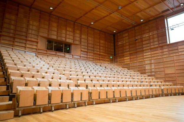 A Music Hall with empty seating