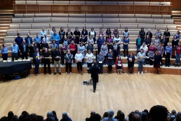 Rock Choir performing at the Colyer-Fergusson Hall